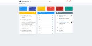 Blog & Portfolio Admin Panel Dashboard Page Screenshot