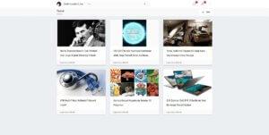 Blog & Portfolio Admin Panel Articles Page Screenshot