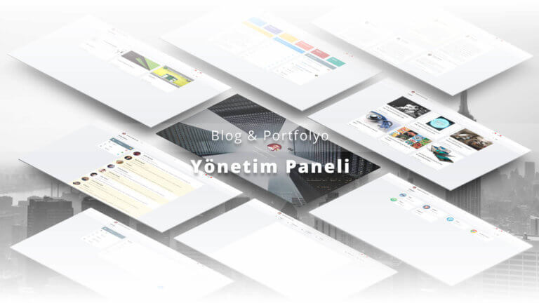 Blog & Portfolio Admin Panel Cover Image