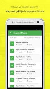 İddaa Planı - Mobile Application Today Matchs Page Screenshot