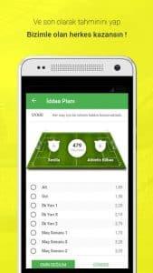 İddaa Planı - Mobile Application Match Details Page Screenshot
