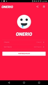 ONERIO Select Province & District Page Screenshot