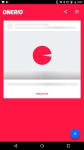 ONERIO Loading Page Screenshot