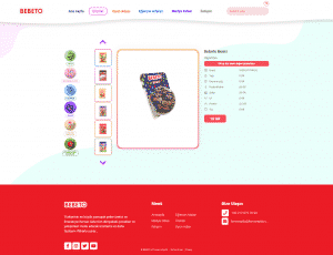 BEBETO Ürün Detay Page Screenshot
