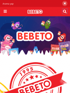BEBETO Search Mobile Page Screenshot