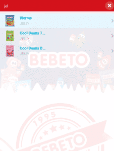 BEBETO Search Results Mobile Page Screenshot